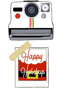 Retro Polaroid Happy Holidays