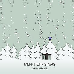 Merry Christmas Snow Forest