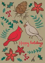 Holiday Cardinal Botani... by Charla Pettingill
