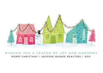 Retro Christmas Town
