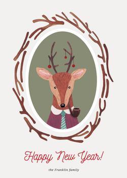 Deer & plants