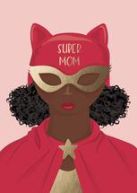 SUPER MOM by Chelsea And Marbles Paper