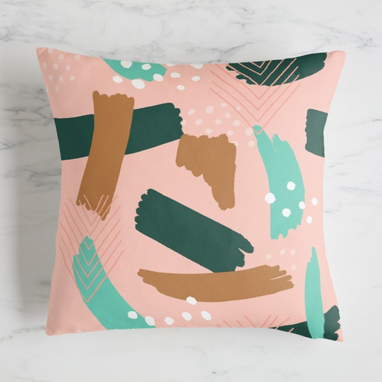 fabric - Brush Strokes on Blush Pink by Meghan Hageman