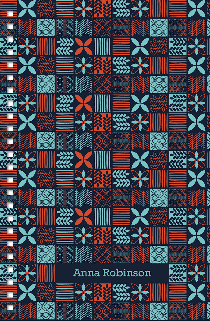 personal stationery - Patchwork in Blue + Red by Meghan Hageman