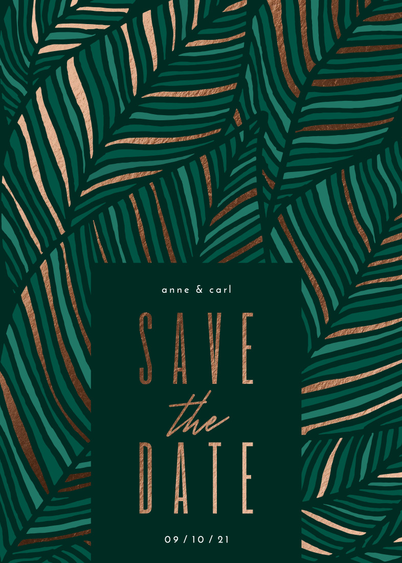 save the date cards - Tropical Bliss by Iveta Angelova