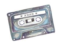 XOXO mixed tape by Christina Oertel