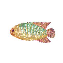 Abstract Angelfish
