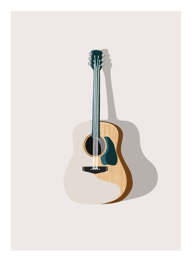 art prints - Guitarra by Alicia Youngken