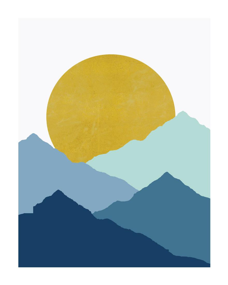 art prints - Blue Mountain by Sudevi Sen