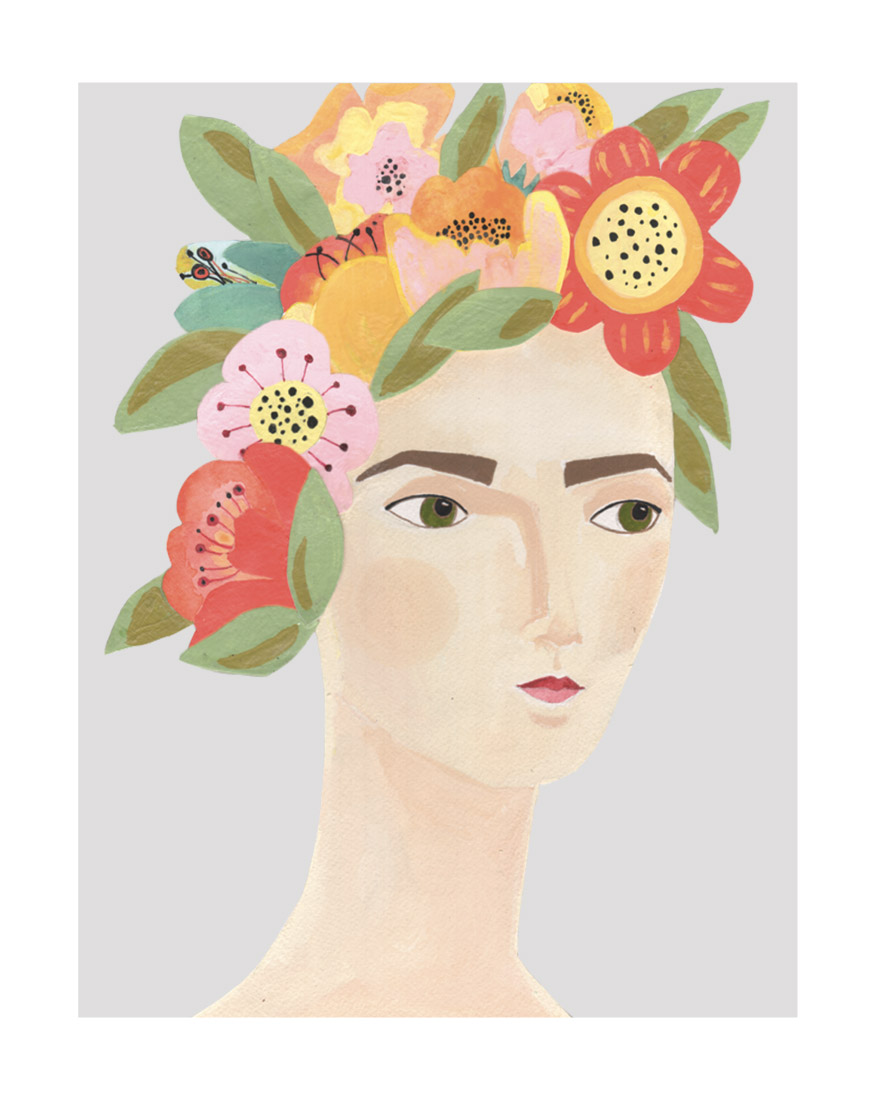 art prints - Flower Crown by Candace Wiant