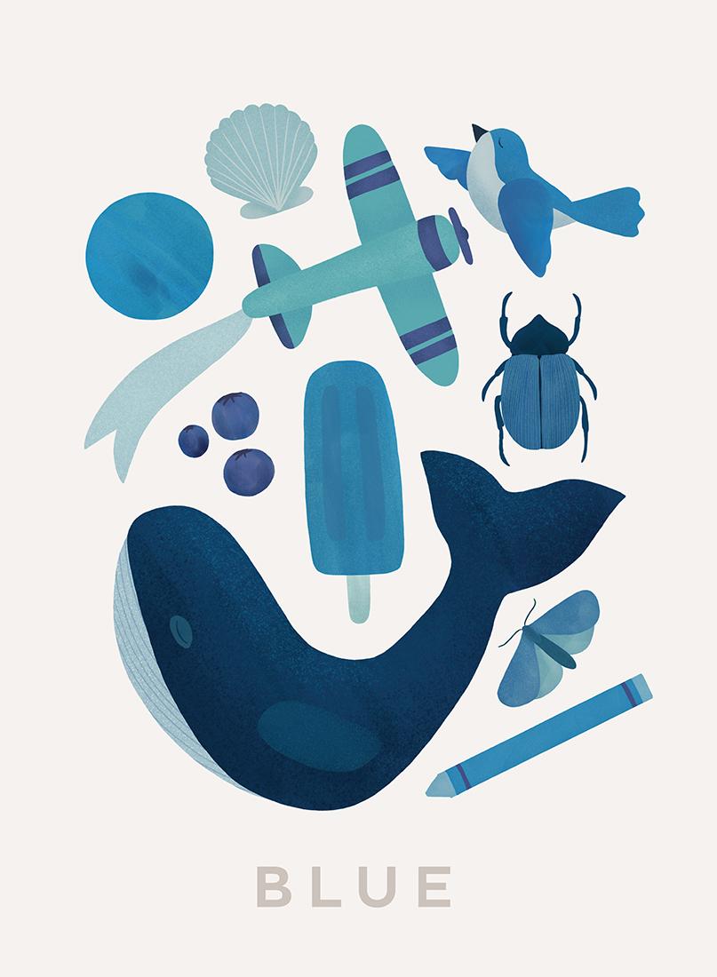 art prints - Ten Blue Things by Ana Peake