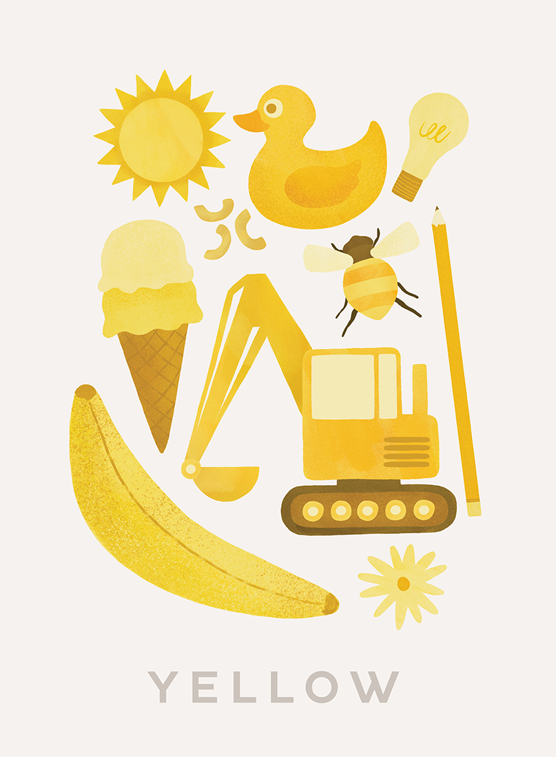 art prints - Ten Yellow Things by Ana Peake