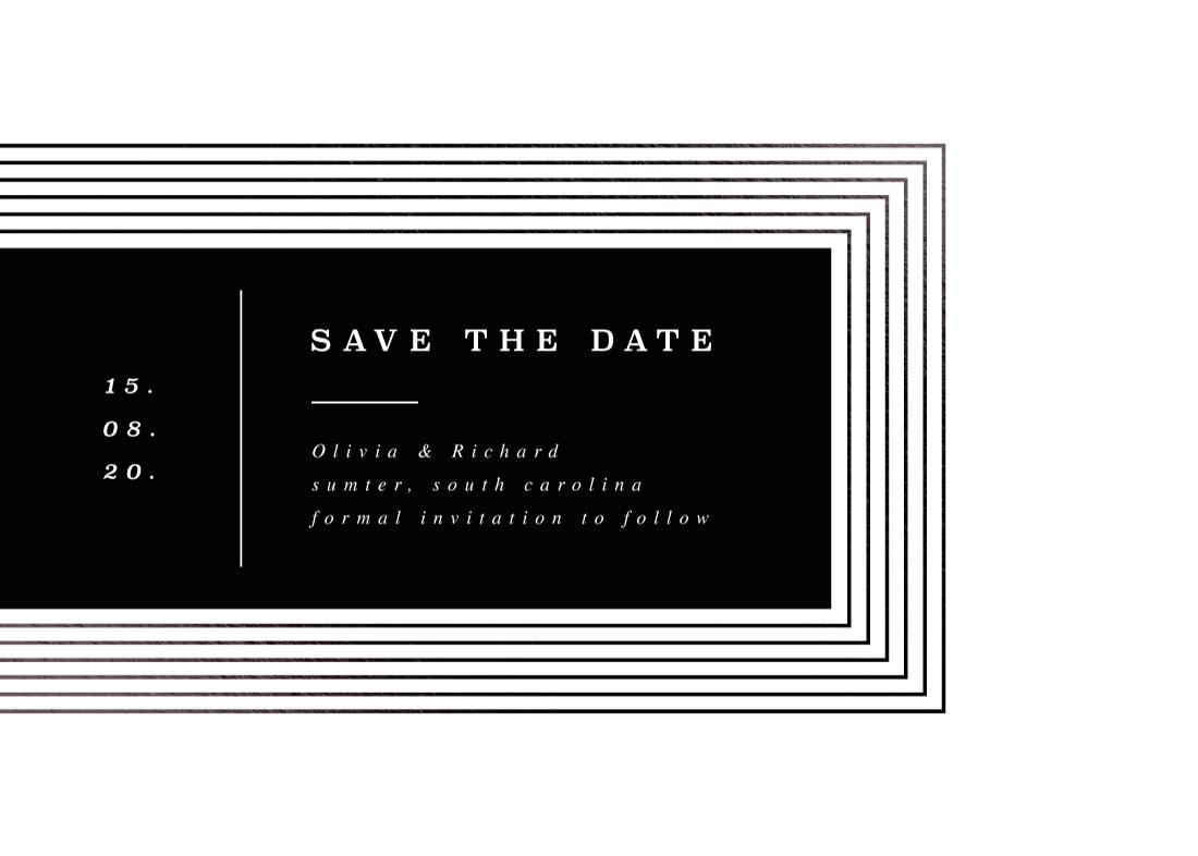 save the date cards - Rhythm by Yuliya Evseeva