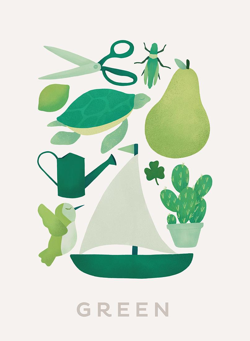 art prints - Ten Green Things by Ana Peake