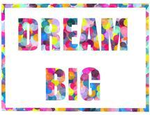 Polka Dot Dream Big by Lavender Brown