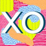Playful XO Print by Lavender Brown