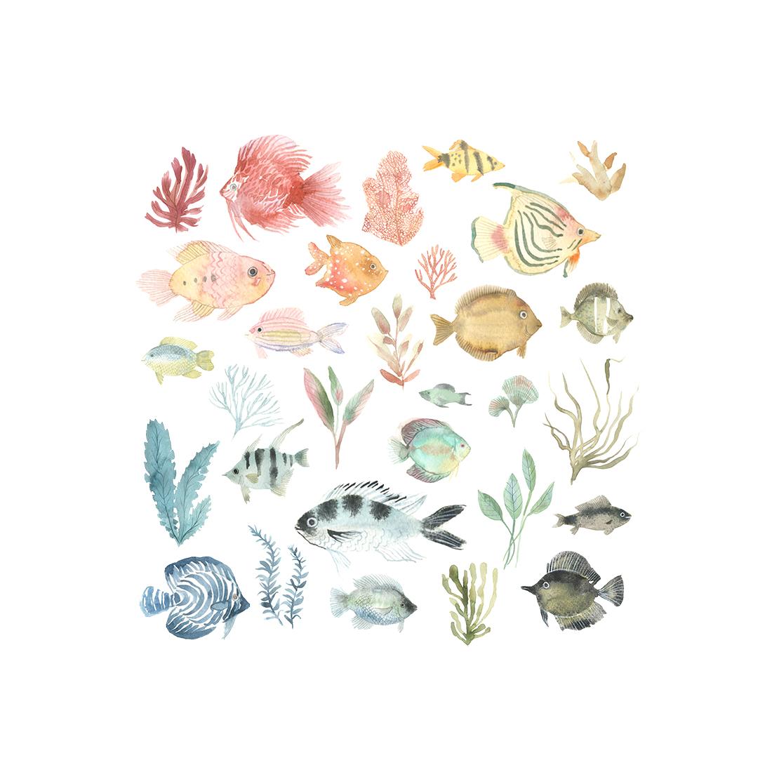 art prints - Tropical Fish by Emilie Simpson