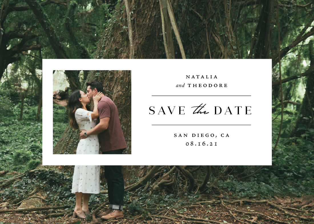 save the date cards - Window by Danie Romrell
