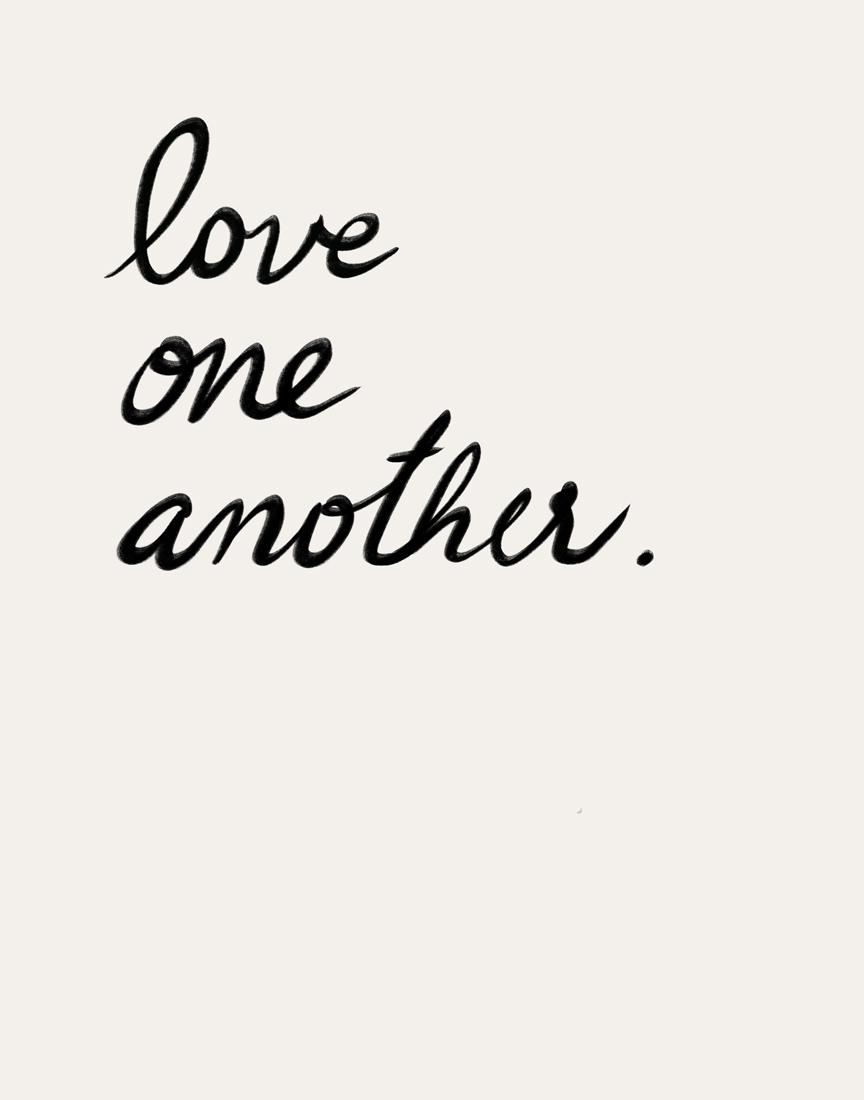 art prints - Love one, Love all by Maja Cunningham