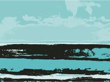 Turquoise Seascape by Wendy Smith