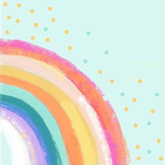 art prints - Ventura Rainbow l by Alison Jerry Designs