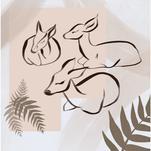 The Deers by Katya Zhukova