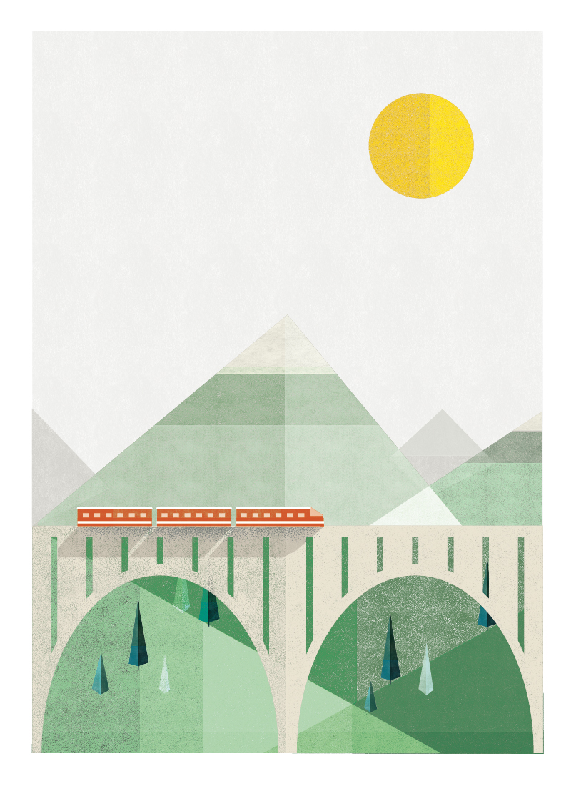 art prints - Train Voyage by Robert and Stella