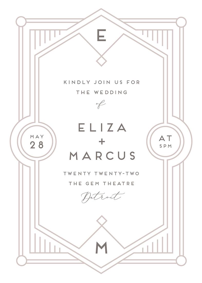 letterpress wedding invitations - Deco Impression by Genna Blackburn