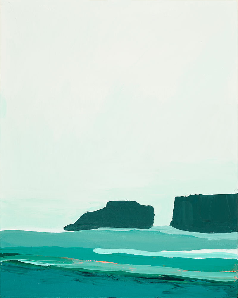 art prints - Abstract Pacific Seascape Diptych 1 by Caryn Owen