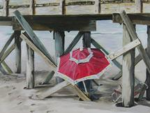 Red Umbrella by Barbara McKenzie