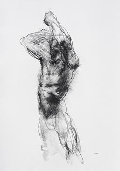 Drawing 543 - Figure with arms raised