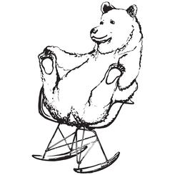 Eames Chair Bear