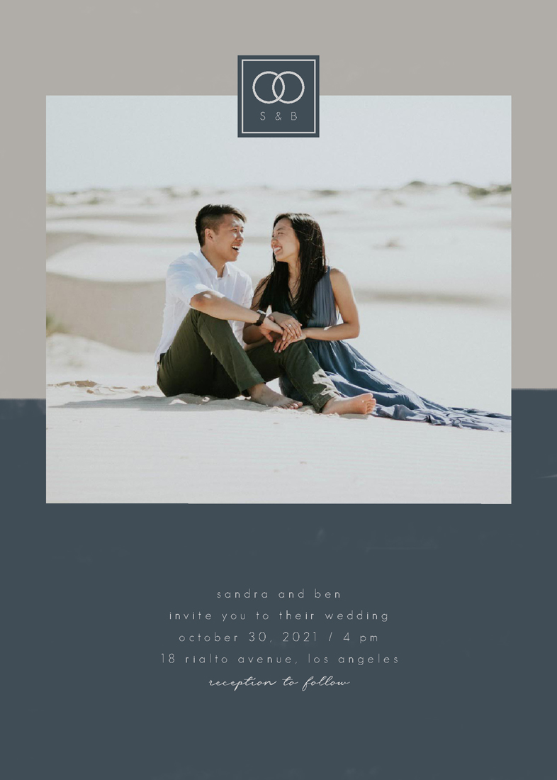 wedding invitations - melting rings by FRANI