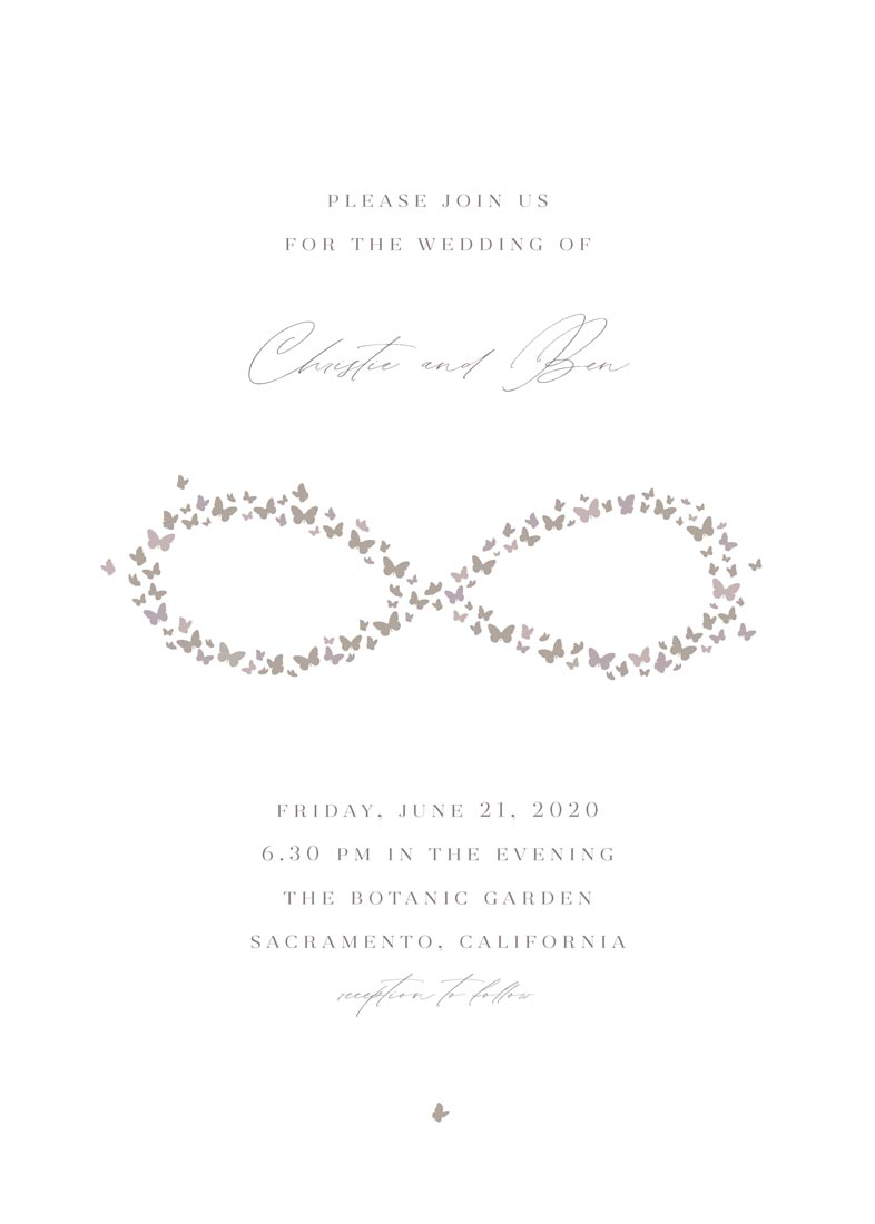 wedding invitations - endless butterflies by FRANI