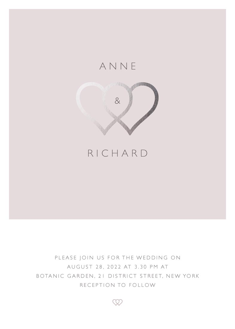wedding invitations - polaroid melting hearts by FRANI
