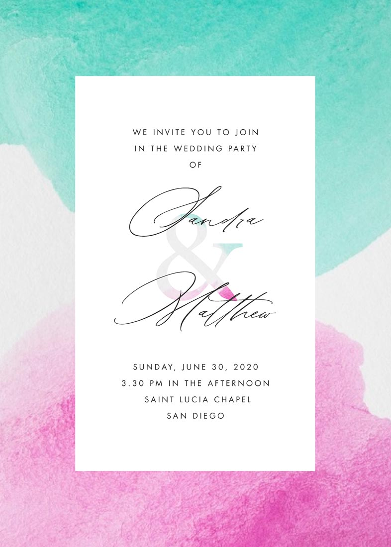wedding invitations - Color Merge by FRANI