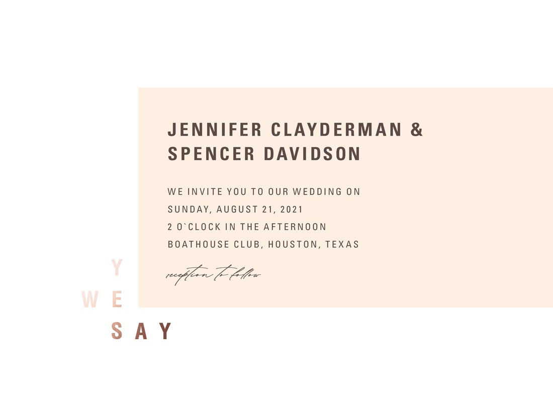 wedding invitations - WE SAY YES by FRANI