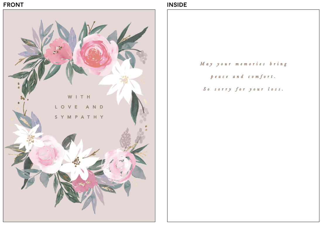 greeting cards - Comforting flowers by Creo Study