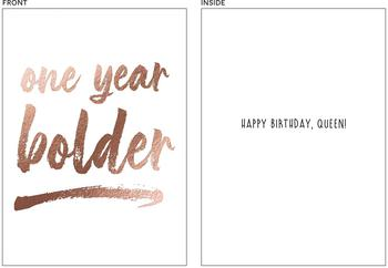 one year bolder