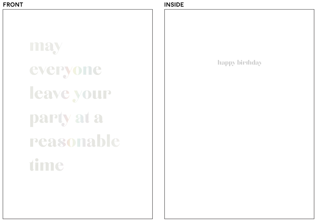 greeting cards - reasonable time by Holly Whitcomb