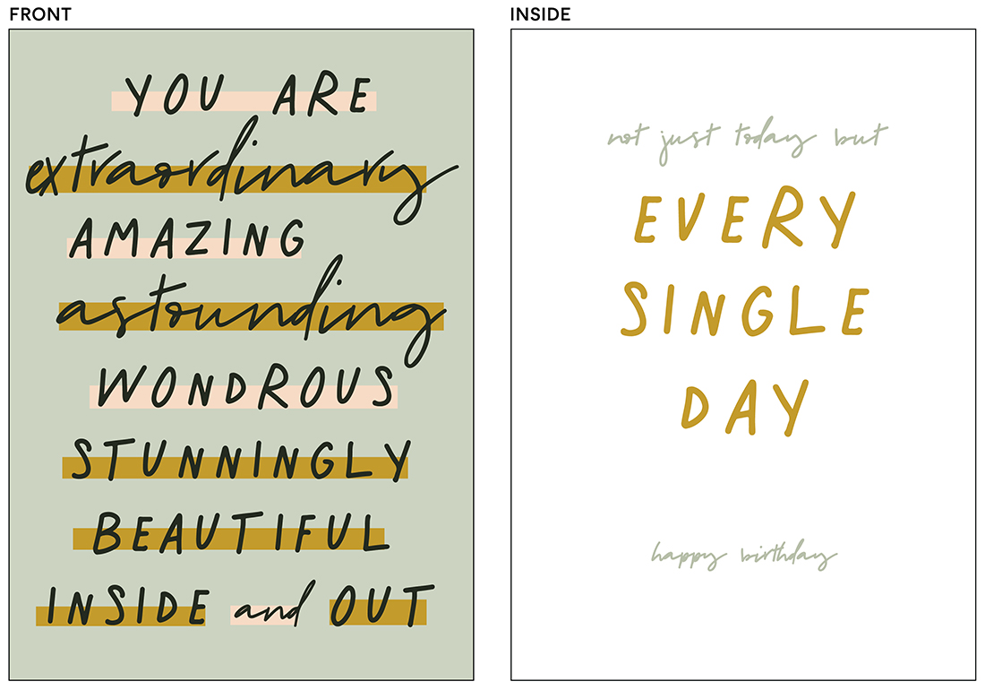 greeting cards - Not Just Today by Kelsey Mucci