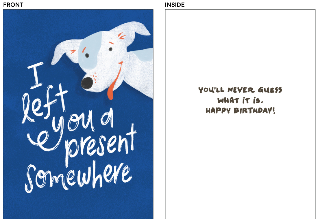 greeting cards - Left You a Present by Pink House Press