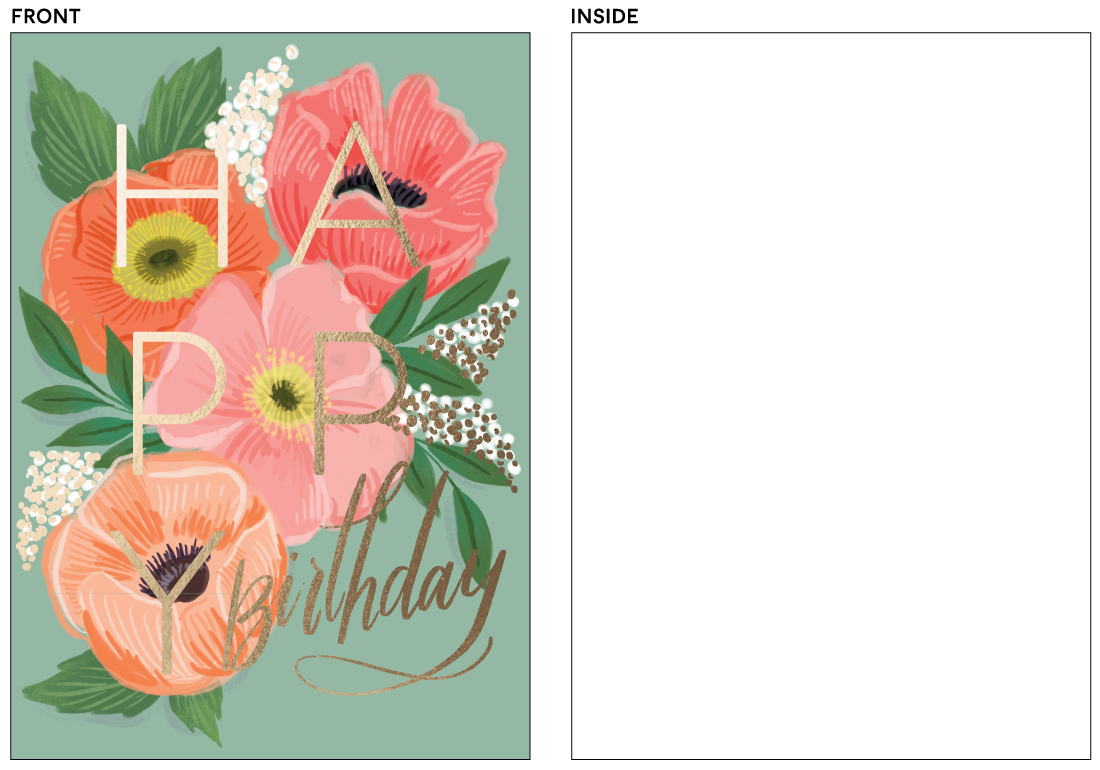 greeting cards - birthday poppies by Rebecca Durflinger