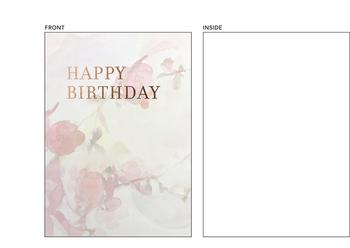 Floral watercolor birthday