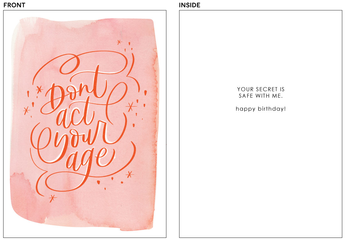 greeting cards - Act Your Age by Bright Room Studio