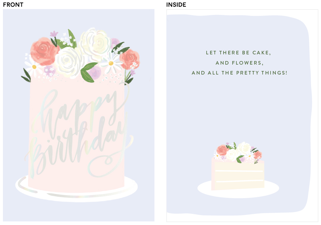 greeting cards - Flower Cake by Itsy Belle Studio
