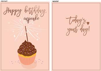 Happy Birthday, cupcake