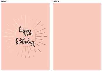 simple Happy Birthday Card