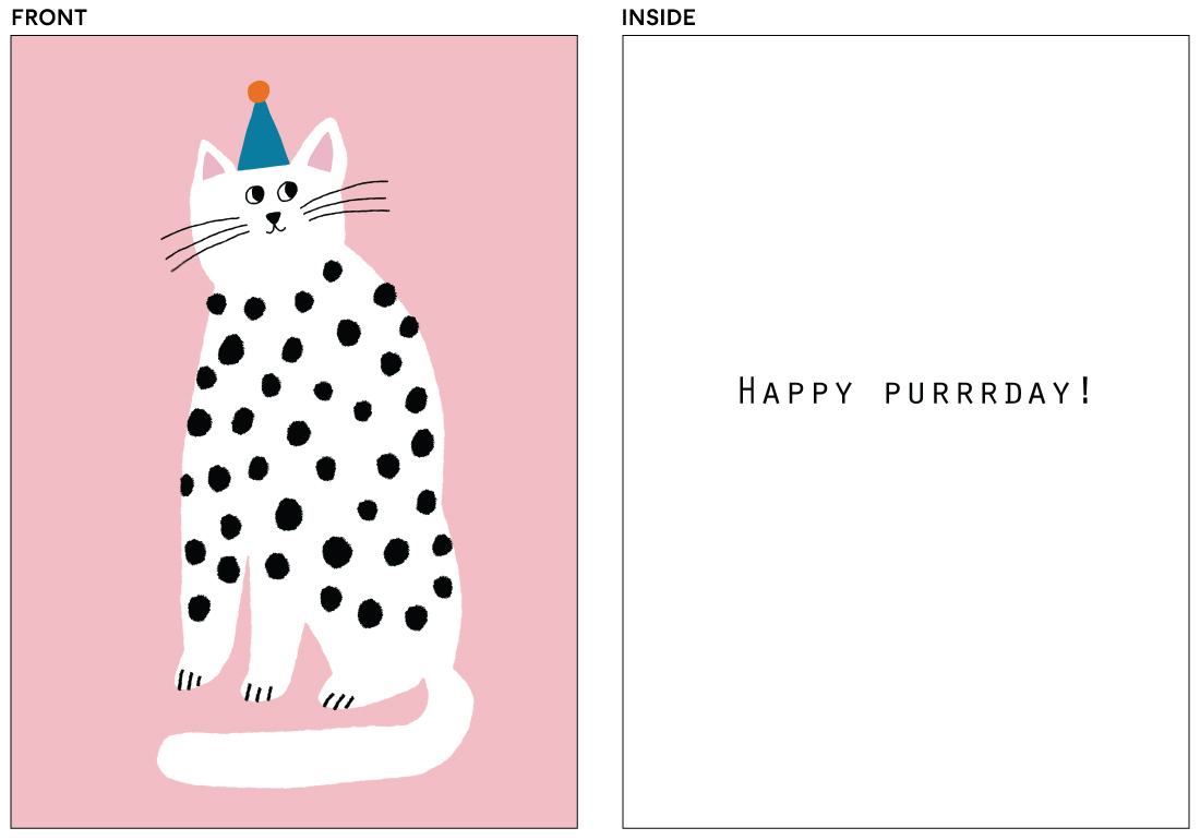 greeting cards - Purrrfect Birthday by Lena Erysheva