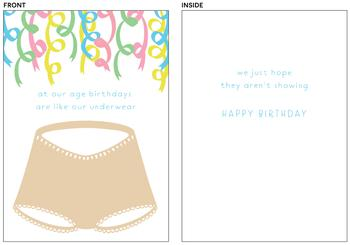 Skivvies Birthday